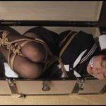 緊縛されてトランクに押し込まれる女のエロス