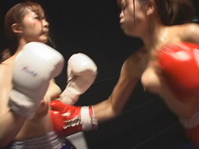 女子ボクシング! ガチンコで戦う女たち! おっぱい丸出しトップレスで殴り合う!
